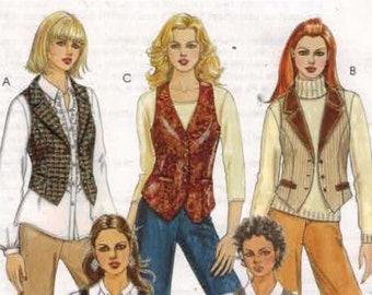 Misses Sewing Pattern McCalls MM5186 5196 Misses Lined Vests Size 14 16 18 20  UNCUT