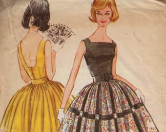 1960s Vintage Sewing Pattern Butterick 9795 Misses Tailored Coat Dress Full Skirt Size 12 Bust 32  60s
