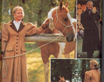 Misses Sewing Pattern Simplicity 9453 Cattle Kate Carriage and Buggy Coat Riding Equestrian Size 6 8 10 12 or 14 16 18 20 UNCUT