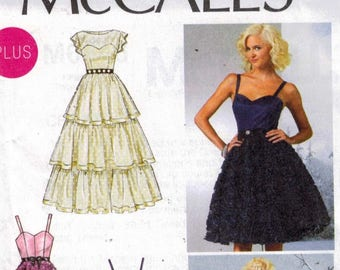 Misses Sewing Pattern McCalls M6646 6646 Party Dress Lace Sweetheart Neckline Prom Cut Plus Size 18W 20W 22W 24W Or 8-10-12-14-16 UNCUT