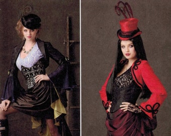 Misses Sewing Pattern Simplicity 1819 Misses Steampunk Costume Corset Victorian Bustle Steampunk Cosplay Bustle 6-12 14-22 Multisize UNCUT