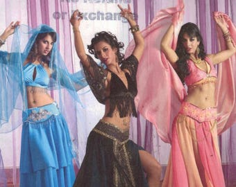 Misses Sewing Pattern Simplicity 2941 Misses Belly Dance Costume Halloween I Dream of Genie Size 14 16 18 20 Bust 36 38 40 42 UNCUT