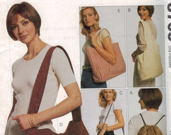 Craft Sewing Pattern McCalls 8705 Carry All Bag Tote Bag Backpack Sling Bag UNCUT