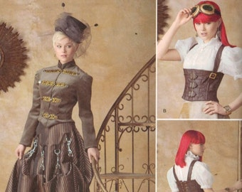 Misses Sewing Pattern Simplicity 1558 Misses Making HIstorical Costume Corset Victorian Bustle Steampunk Cosplay 6-12 14-22 Multisize UNCUT