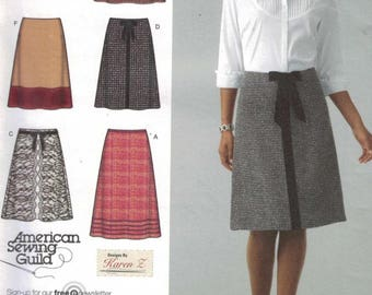 Misses Sewing Pattern Simplicity 4036 Misses A Line Knee Length Skirt Size 6 8 10 12 14 UNCUT  99