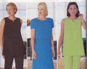 Misses Sewing Pattern Butterick 4930 Donna Ricco A Line Dress Tunic Pants Size 14 16 18 Bust 36 38 40 UNCUT  99