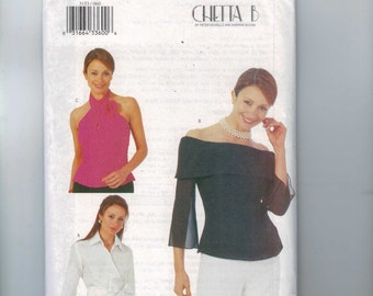 Misses Sewing Pattern Butterick 3153 Misses Easy Blouse Halter or Boat Neck Size 6 8 10 or or 12 14 16 or 18 20 22 UNCUT  99