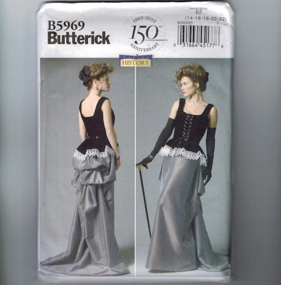 Butterick Sewing Pattern B5969 Misses/' Corset and Skirt