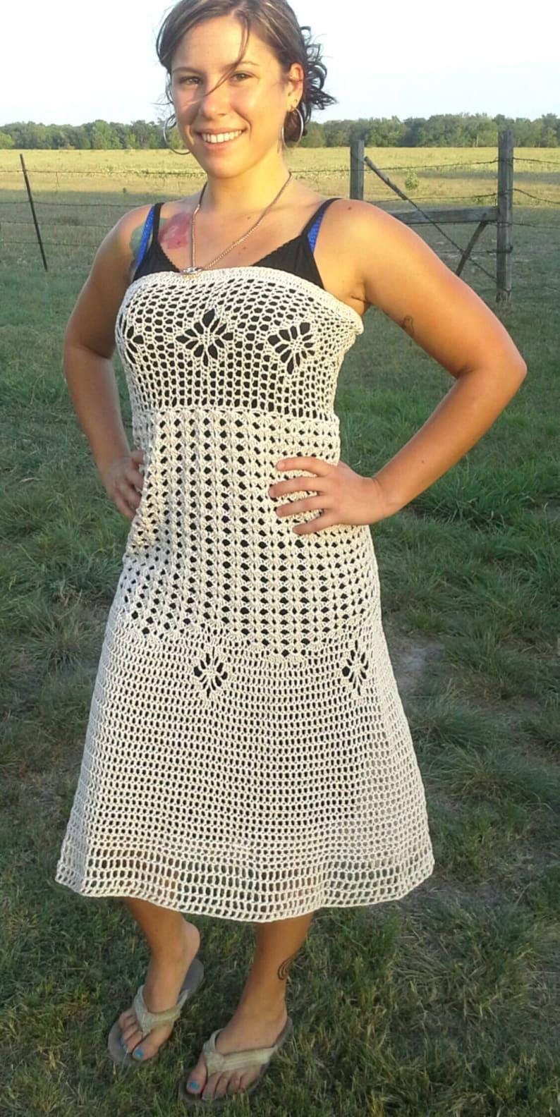 hippie crocheted skirtdress pattern