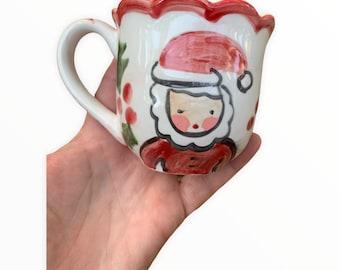 Santa Milk Cup, Santa Mug , Santa Milk