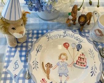 Birthday Plate, Boys Birthday Plate ,Personalized, Ceramic Birthday Plate, Custom Plate
