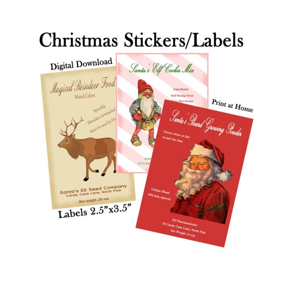 Christmas Gift Stickers Labels Christmas Stickers Christmas Etsy