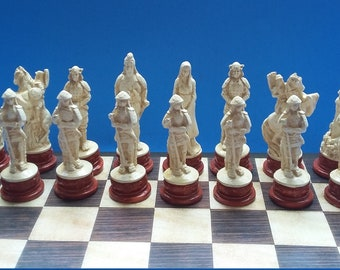 Japanese Mini chess set -Rosewood / Ivory finishes-with board
