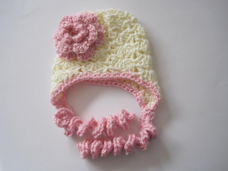 a2580955248 Crochet Newborn Girl Hat Girl Baby Hat Infant Girl Bonnet