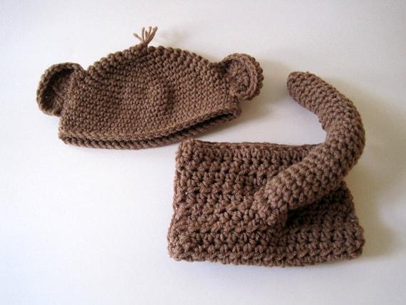 Baby Windel und Hut Monkey Schwanz Baby Monkey Hat häkeln | Etsy