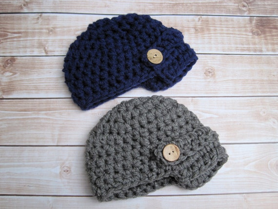 62970c79302 Newborn Twin Boy Hats Twin Baby Boy Beanies Infant Twin