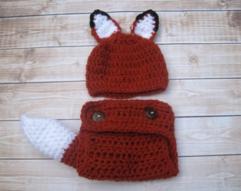 Baby Halloween Costume, Newborn Costume, Baby Costume, Infant Costume, Baby Halloween Hat, Infant Halloween Hat, Newborn Halloween Hat, Fox