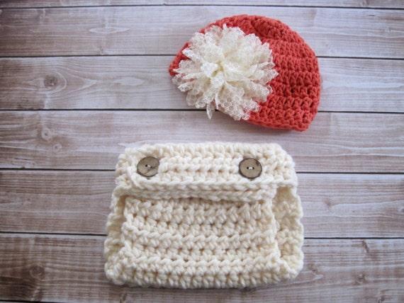 Häkeln Sie Baby Mädchen Windel Cover und Hut Häkeln Sie Baby | Etsy