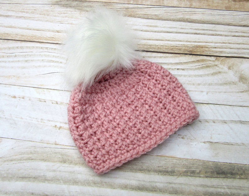 8529f997d8a Pink Baby Girl Hat Girl Baby Beanie Baby Homecoming Hat