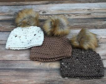 Pom Pom Baby Beanies, Baby Boy Hat, Newborn Girl Hat, Baby Hat with Pom Pom, Winter Baby Hat, Baby Homecoming Hat, Baby Shower Gift, Infant