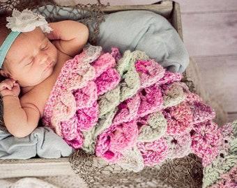 Baby Mermaid Outfit, Baby Mermaid Tail, Crochet Mermaid, Mermaid Costume, Baby Mermaid Cocoon, Mermaid Photo Prop, Newborn Mermaid, Pink