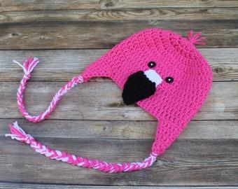 Baby Flamingo Hat, Baby Halloween Costume, Hat for Baby Girls, Newborn Girl Costume, Baby Winter Hat, Newborn Girl Hat, Flamingo Baby Gift