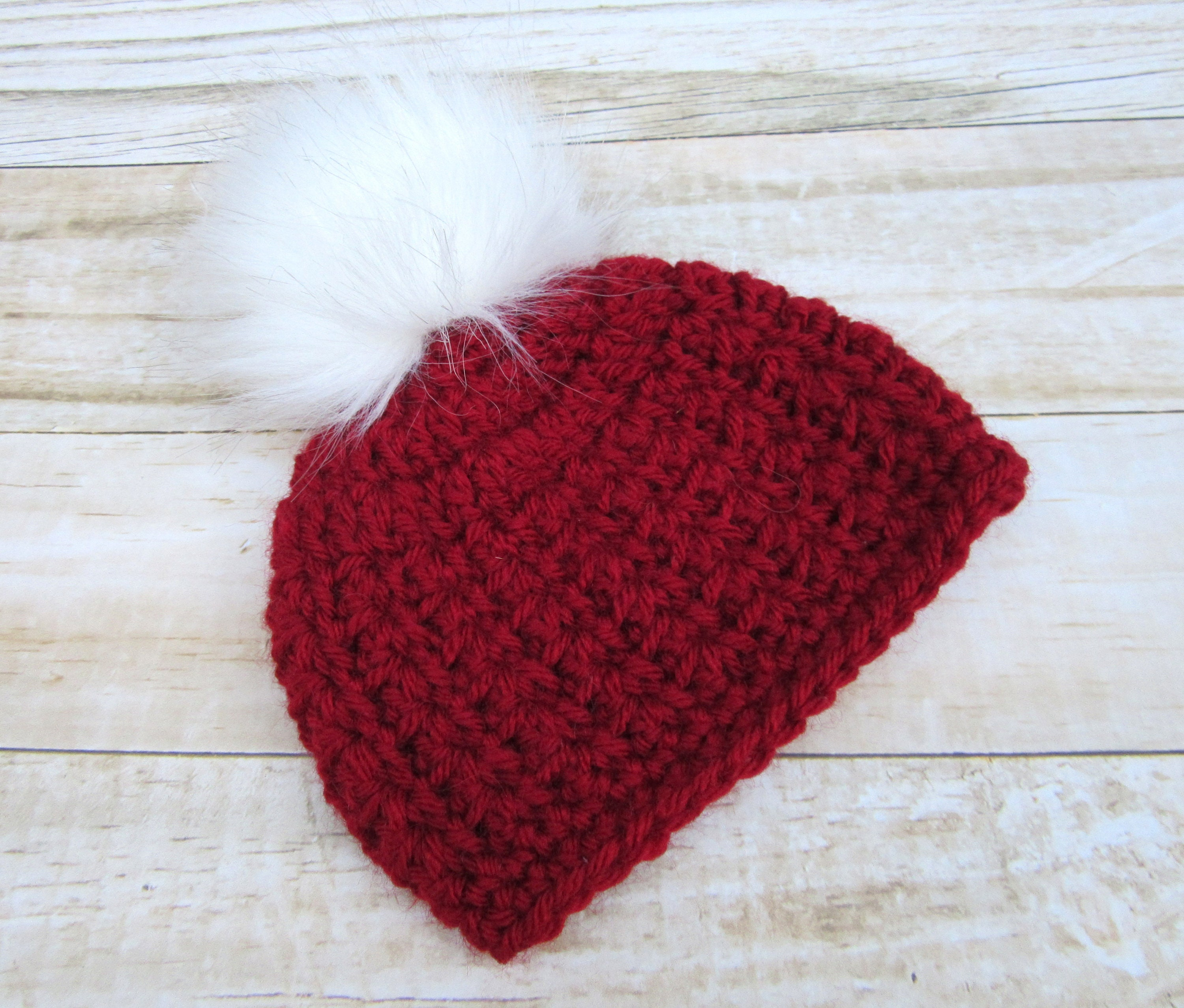 Red Baby Christmas Hat Newborn Winter Hat Crochet Baby Hat  9486ba02a8e