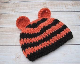 Crochet Baby Hat, Baby Crochet Hat, Baby Tiger Hat, Baby Boy Hat, Baby Girl Hat, Newborn Hat, Baby Animal Hat, Baby Halloween Costume