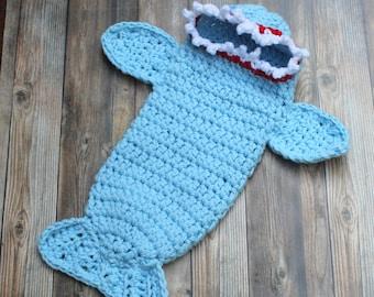 Blue Baby Boy Shark Costume, Newborn Boy Halloween Costume, Baby Shark Cocoon, Newbon Shark Costume, Baby Costume, Infant