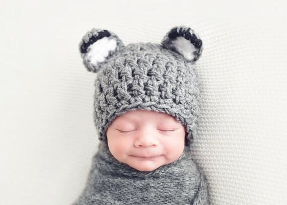 Mütze Für Babys Häkeln Babymütze Baby Wolf Hut Baby Boy Etsy