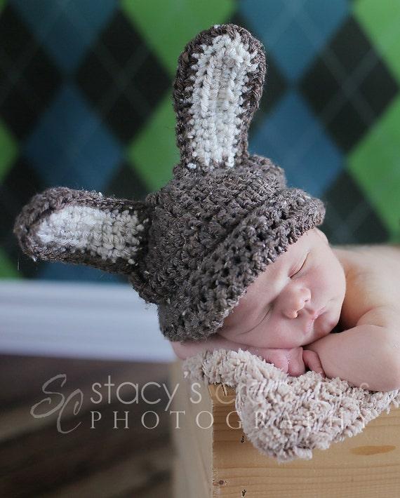Häkeln Sie Baby Mütze Hut häkeln Bunny Baby Bunny Mütze   Etsy