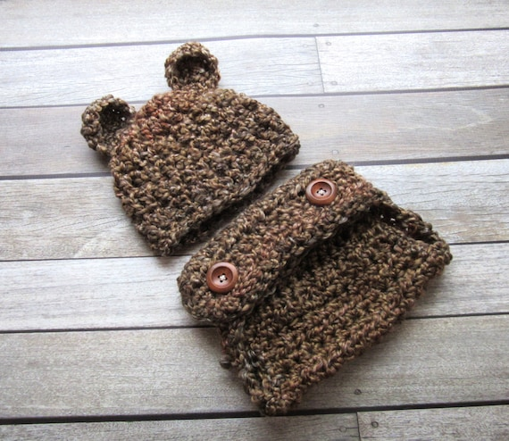 1ce320e9c72d Baby Bear Outfit Baby Bear Set Newborn Outfit Baby Hat and