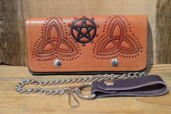 Noeud celtique Pentacle Design chaine portefeuille