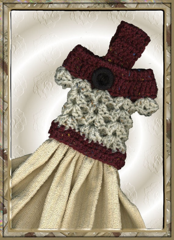 Kitchen Towel Crochet Dress Topper Pattern Etsy