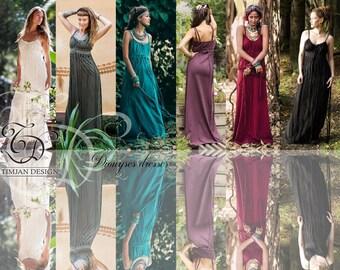 268dbadec40 DIONYSES DRESSES - Many colors - BoheOrganic Wedding Bride Boho Hippie Long  Elegant Prom Party Couture Burning man Maxi gift