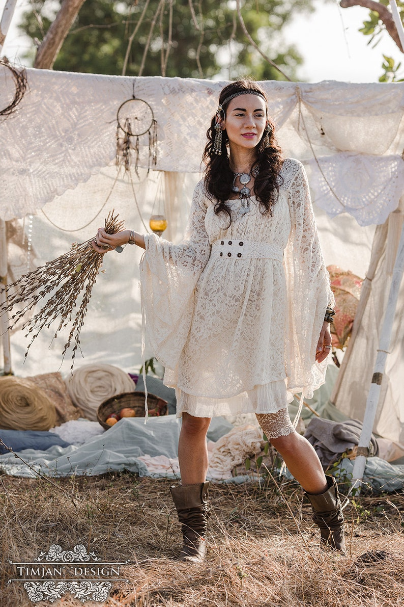 bccbe261fa7 EMPRESS BOHEMIAN DRESS Lace Hippie Boho Wedding Bride