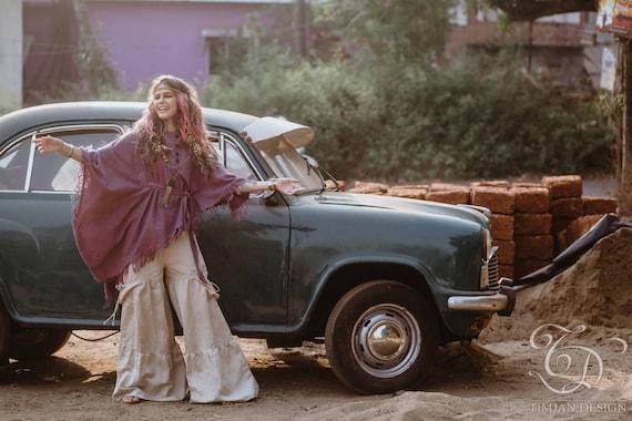 Boho Gothic Wide Skirt Belly Fairy Gypsy VEDA Trousers Hippie Beige Bohemian Dance Pixie PANTS Flared LINEN Baggy Faery leg 7qzTt