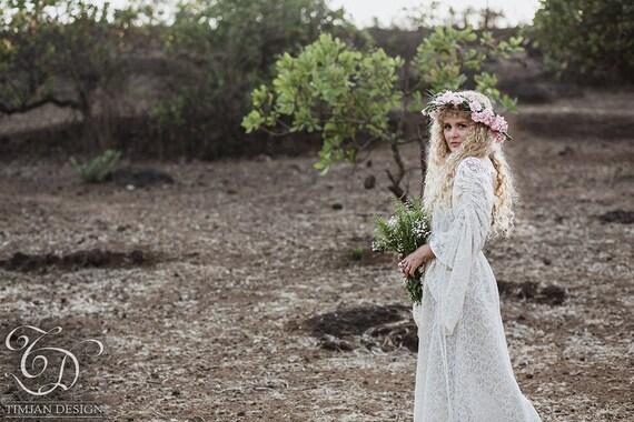 Long Empress Dress Bohemian Lace Hippie Boho Wedding Bride Etsy