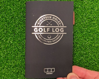 Golf Log | 18 Holes | 22 Rounds | Notebook