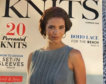 Knitting Magazine Interweave Knits Summer 2016 issue Boho Lace Perennial Knits Design Set In Sleeves Microdermy Knits