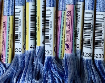 DMC 4230 Crystal Color Variations Colors Embroidery Floss 1 Skein 6 Strand Thread for Embroidery Cross Stitch Needlepoint Sewing Beading