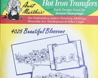 Beautiful Blossoms Aunt Marthas Hot Iron Transfers for Embroidery Fabric Painting Quilting Needlepoint Crafts 4025