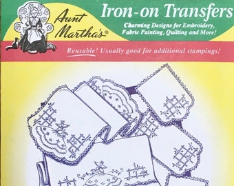 Colonial Girl Motifs Daisies Aunt Marthas Hot Iron Transfers for Embroidery Fabric Painting Quilting Needlepoint Crafts 3188