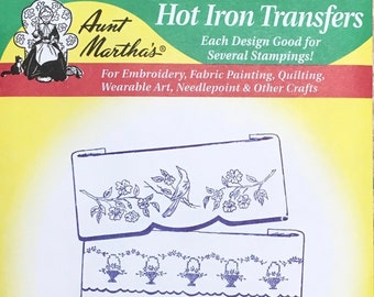 Pretty Bedroom Set Aunt Marthas Hot Iron Transfers for Embroidery Fabric Painting Quilting Needlepoint Crafts 3049
