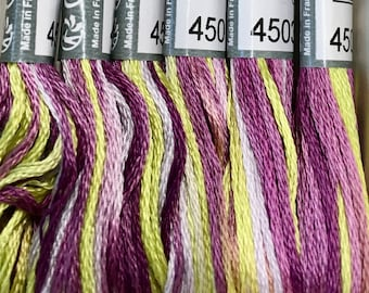 DMC Coloris 4503 Wisteria Embroidery Floss 1 Skein 6 Strand Cotton Thread Embroidery Cross Stitch Needlepoint Sewing Beading