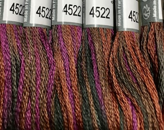 DMC Coloris 4522 Canadian Night Embroidery Floss 1 Skein 6 Strand Cotton Thread Embroidery Cross Stitch Needlepoint Sewing Beading