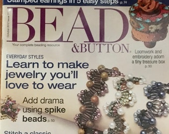 Bead and Button Magazine Stamped Earrings Loomwork Beaded Beads Learn to Make Jewelry Beaded Box October 2012