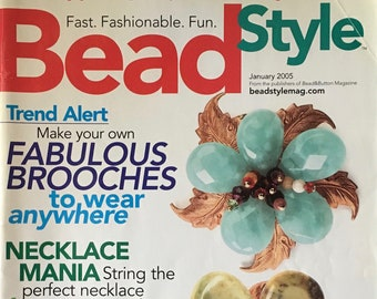 Bead Style Magazine 30 Plus Easy Jewelry Projects Brooches Radiant Rings Necklace Mania January 2005