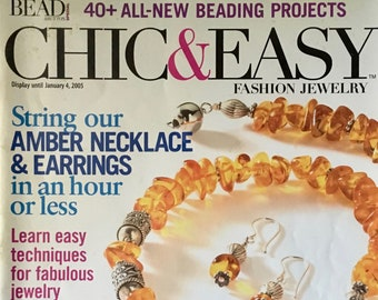 Chic and Easy Magazine by Bead and Button Magazine Amber Necklace and Earrings Gift Ideas 40 Plus New Projects Winter 2005