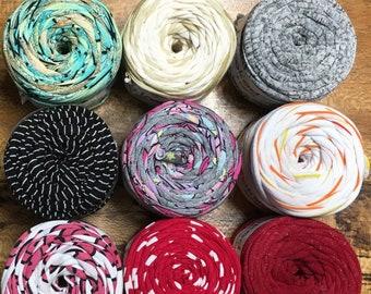 Hoooked Baby Zpagetti Patterned Yarn Cotton Super Chunky T Shirt Yarn Knitting Crochet Weaving 27 yards